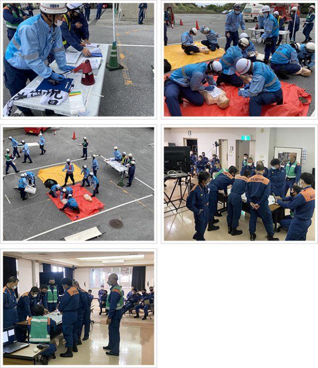 多数傷病者事故対応合同訓練の様子